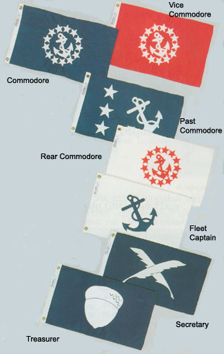 "PAST COMMODORE YACHT CLUB FLAG 12/"" x 18/"""